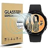 Diruite 4-Stück Panzerglas für Samsung Galaxy Watch 4 44mm Schutzfolie,HD Glas Bildschirmschutzfolie für Samsung Galaxy Watch 4 Intelligente Uhr [Anti-Kratzen] [Anti-Öl] [Keine-Blasenfrei]