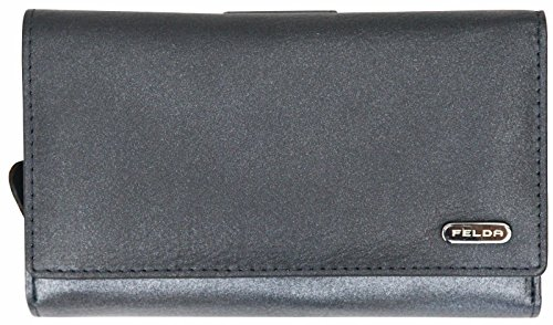 Felda Womens Genuine Soft Leather Clutch Wallet - RFID Protection -...