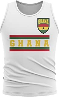Airosportswear Ghana Core Football Country Sleeveless Tee (White)