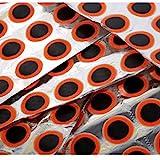 HehiFRlark - Kit de herramientas para reparación de pinchazos de neumáticos de bicicleta, autoadhesivo, parche, color negro y rojo