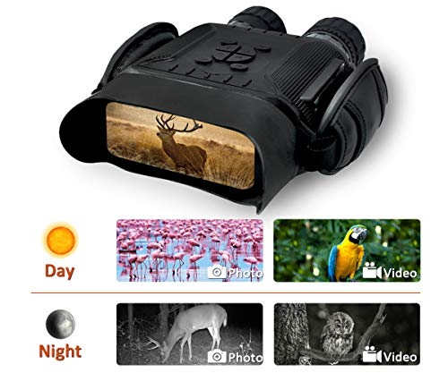 Rainier Gear NV 900 Digital Night Vision Binocular - 40 mm Aperture, HD Image, 4 in. LCD Screen, 4.5X Magnification, 5X Zoom, 400m/1300ft in The Dark w/ 32G Memory Card