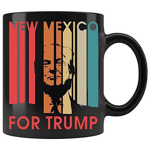 N\A Voto de Nuevo méxico por la Taza Divertida Retro de Donald Trump. Taza Divertida del Presidente. Donald Trump Taza de café Divertida de cerámica (Negro,)