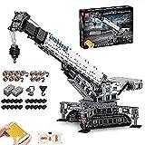 FYHCY Bloques de construcción de camión grúa de tecnología para Liebherr 11200, 4000 Telie grúa sobre orugas Liebherr con Control Remoto con 12 Motores y Control Remoto, Compatible con Lego Technic