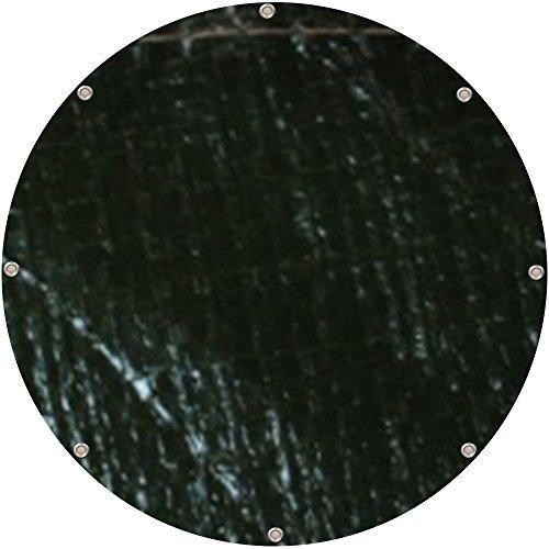 Bâche de protection ronde en polyéthylène type 430500 - Diamètre de 5 m - Vert