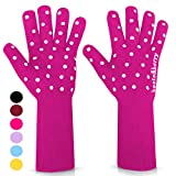 beets&berry Oven Gloves Oven Mitts Heat Resistant to 500° | 1 Pair Heat Resistant Gloves with Extra...
