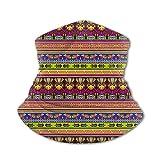 Lsjuee American Aztec Culture Pattern Ice Silk Varietà Asciugamano per il viso Elegante c...