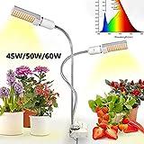 USB LED Planta Luz Full Spectrum 45W / 50W / 60W DC 5V Flexible Grow Lights Phyto Lamp para Garden House Flower Hydroponic con enchufe Set, 45W