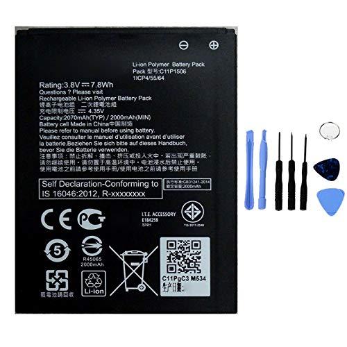 Ellenne Batteria Compatibile con ASUS ZENFONE Go Live Z00VD C11P1506 Alta capacità 2070MAH con Kit SMONTAGGIO Incluso