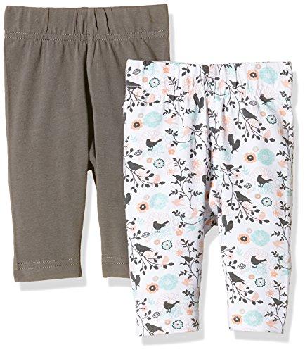 Twins Baby-Mädchen Legging, 2er Pack, Mehrfarbig (Mehrfarbig 5024), 62 , 2er Pack