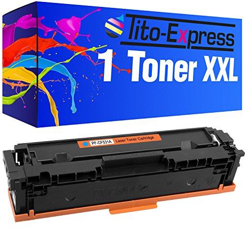 Tito-Express Platinum Serie 1 Cartucho de tóner XXL Cyan Compatible con HP CF531A 205A Color Laserjet Pro MFP-M180 FNDW M180N MFP-M181 FW M181FW