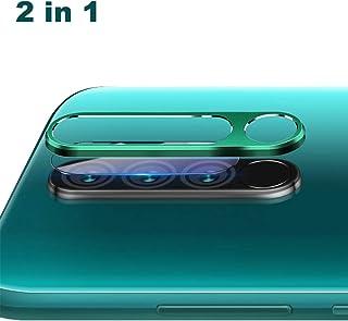 NOKOER Protector de Lente de Cámara para Xiaomi Redmi Note 8 Pro [2 en 1] Anillo Protector Metálico para la Cámara + Película Protectora para la Cámara Lente de la Cámara de Protección - Verde