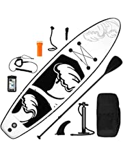 inty ISUP Opblaasbaar stand-up paddleboard, 6 inch dik, complete set SUP-board, hogedrukpomp, peddel, rugzak, reparatieset