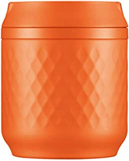 Insulation Lunch Box Female Super Long Insulated Barrel Lunch Box Stainless Steel Smoldering Pot Beaker Pot Easy to Carry ( Color : Orange , Size : 12*12*13.2CM )