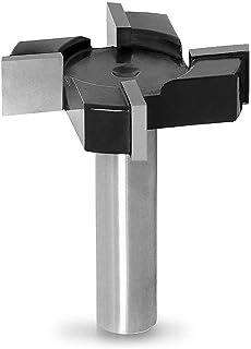 Doolland CNC Spoilboard ytrouterbitar, 1/2 tum skaft 2 tum skärdiameter, platta platta platta router bit hyvling bit trä f...