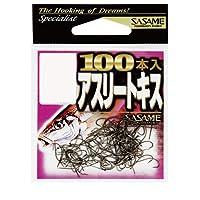 ささめ針(SASAME) 12PAS アスリートキス赤100本入 6号.