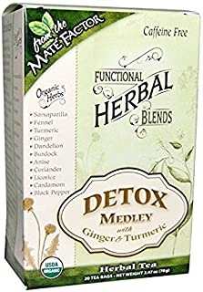 Mate Factor Detox Medley Tea with Ginger & Turmeric 20 tea bags - case of 6