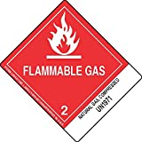 GC Labels-L304P3026, Natural Gas, Compressed UN1971, Roll of 500 Labels