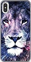 iPhone/Xperia/Galaxy/他機種選択可:宇宙/ユニバース/アニマル/スマホケース_01:ライオン(らいおん 獅子 LION) 09 iPhone X