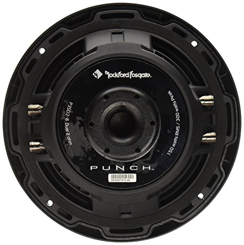 """Rockford Fosgate P3SD2-8 8"""" Dual 2-Ohm Punch Series Shallow Mount Car Subwoofer"""