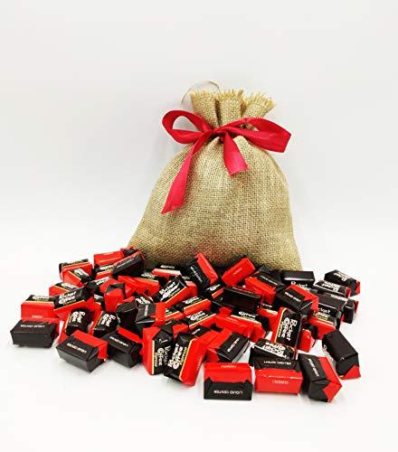 Idea Regalo San Valentino Sacco Juta Small con all'interno 64 Pocket Coffee. Gli originali Ferrero.