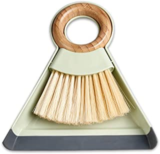 Xifando Mini Broom and Dustpan for Housekeeping,Wooden Handle Small Broom and Dustpan Set Combination Mini Desktop Sweep, ...