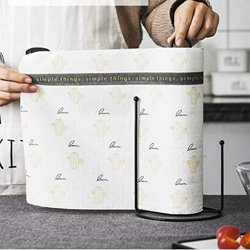 LLKK Porta Rollos de Cocina para el hogar Creativo,Adecuado para Porta Rollos de Papel doméstico,servilletas,Porta Rollos de Papel Vertical extendido (con Tela Perezosa)