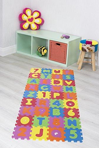 Andiamo 711828 Puzzleteppich Kinderteppich Teppichset Lernteppich Puzzleteppich, Kunstsoff, Multi, 16 x 16 x 1 cm