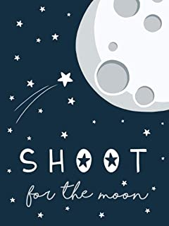 Shoot for The Moon by Elizabeth Tyndall Art Print, 9 x 12 inches