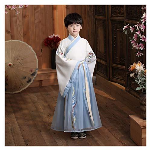 WanXingY Children's Hanfu Boys Pupils Elegante Estilo Antiguo Chicos Estilo Chino Traje Antiguo Super Fairy Summer Tang Disfraz Hanfu (Color : Style D, Size : 110cm)