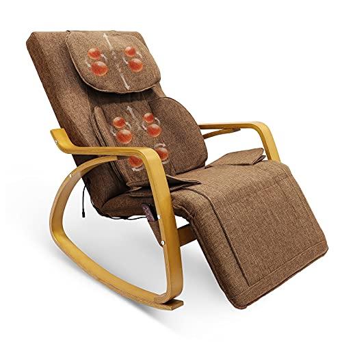 Furgle Elektrisch Relaxsessel Massagesessel Fernsehsessel mit Liegefunktion, verstellbar Einzelliegesessel Wohnzimmer TV Sessel mit Wärmefunktion (Hellbraun)