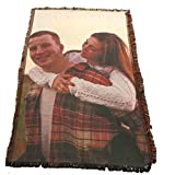 VictoryStore Blanket - Custom Wedding Photo Woven Blanket, Full Color Print - 35 inches x 54 inches Woven Photo Throw Blanket Full Size Custom Photo Gift Blanket (One Photo)