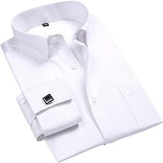 Cloudstyle Men's Dress Shirt Slim Fit Button Down Stripe Checked Shirt