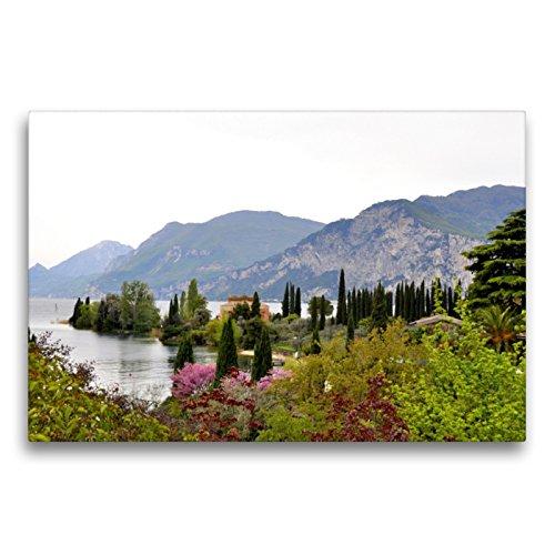 Premium Textil-Leinwand 75 x 50 cm Quer-Format Italien (Gardasee) | Wandbild, HD-Bild auf Keilrahmen, Fertigbild auf hochwertigem Vlies, Leinwanddruck von GUGIGEI