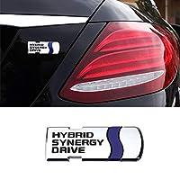 ハイブリッド3Dメタルステッカー車体トランクバッジエンブレムトヨタChrオーリスカムリカローラヴィオスレビンヤリスLアクセサリー