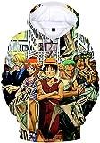 PANOZON Sudadera Hombre One Piece Impresión 3D de...