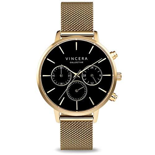 Vincero Women's Kleio Luxury Watch 38mm Quartz Movement Gold/Black
