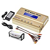 LiPo Charger Balance Discharger 1S-6S Digital Battery Pack Charger for NiMH/NiCD/Li-Fe Packs Hobby Battery Charger w/Tamiya/JST/EC3/HiTec/Deans Connectors + Power Supply(Golden)