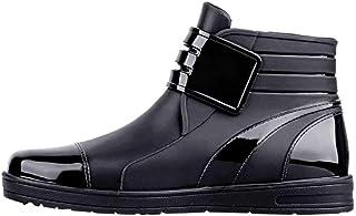 Bottes De Pluie Homme Pas Cher à La Mode Chaussures Basses ImperméAbles De Couleur Unie AntidéRapantes Ankle Boots