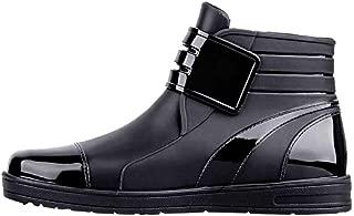 Men's Waterproof Boots Fashion Low Top Help Non-slip Solid Color Rain Boots