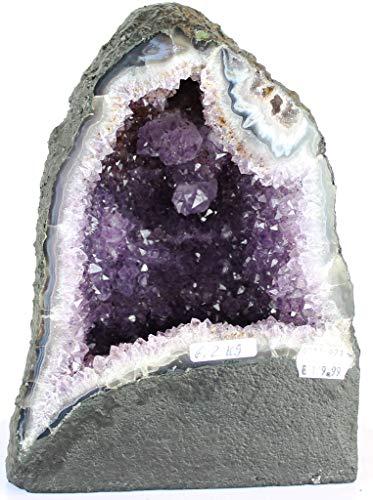Preciosa Geoda de Amatista/Drusa Natural del Brasil - Calidad Extra/Medidas: 6,2 KG - 24 x 18 x 15 CM