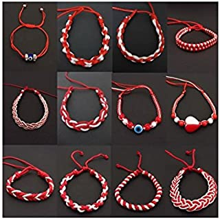 Hand Made Bulgarian Martenitsa Bracelets Set of 6 Pieces