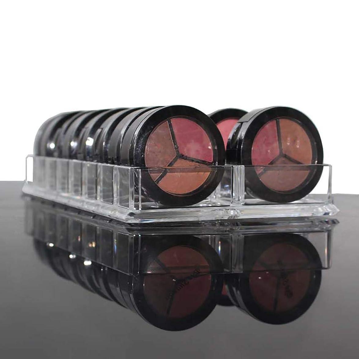 振り子ホールドオール脅かすhamulekfae-化粧品綺麗アクリルアイシャドー頬紅化粧オーガナイザー16スペース化粧品収納ケースホルダー - 透明