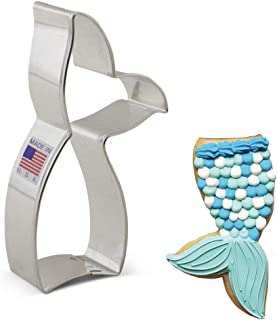 Mermaid and Whale Tail Cookie and Fondant Cutter - Ann Clark - 4.4 Inches - US Tin Plated Steel