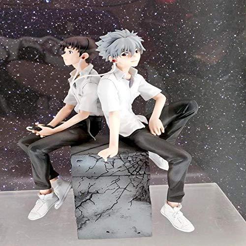 Neon Genesis Evangelion, Shinji Ikari + Nagisa Kaworu 18cm SHF Figura De Acción De Modelo Juguetes para Los Niños - Regalos para Niños A