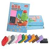Hztyyier 12 Colores de Arcilla polimérica, Mano DIY Modelado de Arcilla polimérica Moldeado artesanía para niños aprende el Tallado en Arcilla