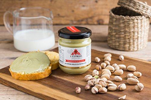 La auténtica Crema Dolce de pistacho 'Sicilia Gr 200, pistacho 35%, sin grasas idrogenati