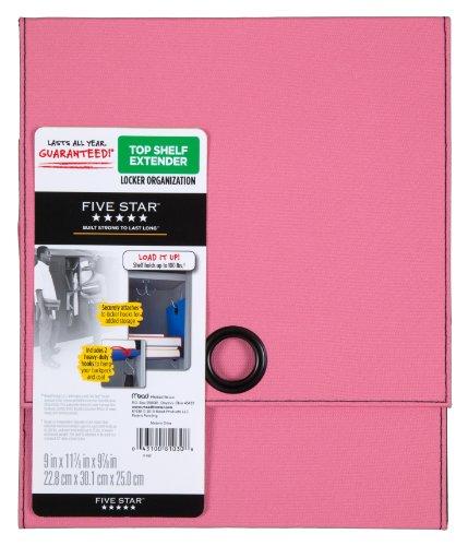 "Five Star Locker Accessories, Locker Shelf Extender, Holds up to 100 Lbs. Fits 12"" Width Lockers, Pink (72240)"