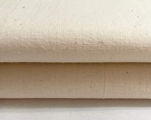 Tela 100% algodón natural calico sin blanquear – peso medio – 160 cm extra ancho – por metro
