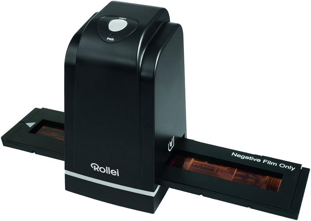 scanner per diapositive e negativi 5.0 megapixel, porta usb, incl. accessori estesi - nero rollei df-s 500 se 20689
