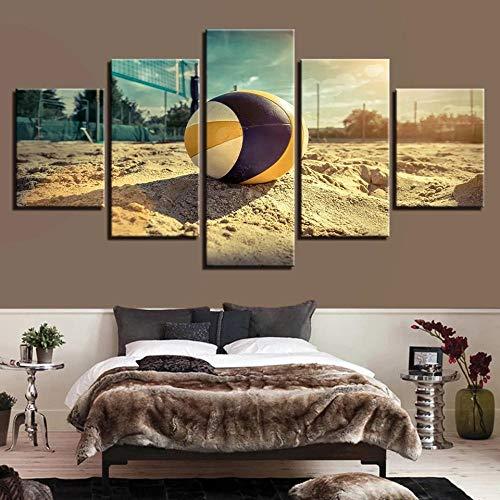 STDJ Decoración De Pared 5 Piezas Basketball Sports Poster Cuadros En Lienzo Lona murales Artística Imagen Gráfica Modernos Salon Decoracion dormitorios